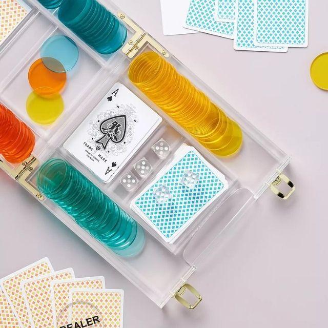 Sunnylife Lucite Poker Set