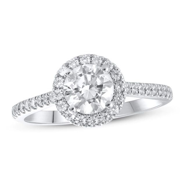 Lab-Created Diamonds by KAY Engagement Ring 1-1/3 ct tw Round-Cut 14k White Gold