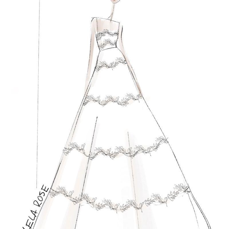 Lela Rose Bridal Fashion Week Fall 2020 Sketch