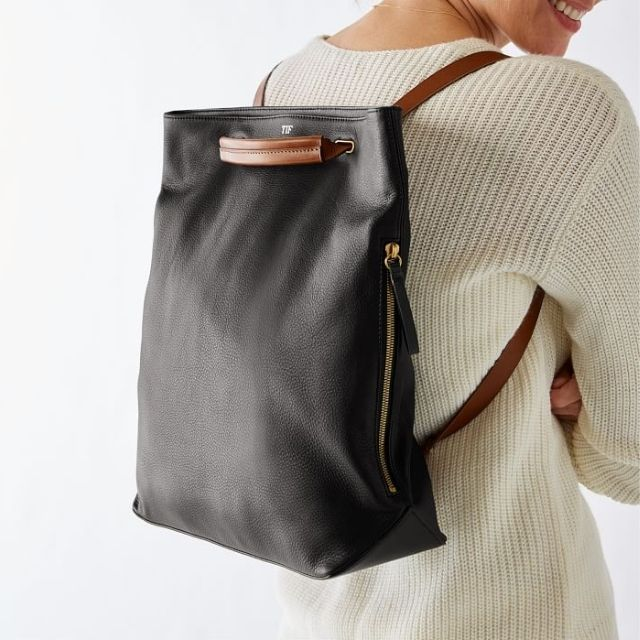Bedford Convertible Leather Backpack