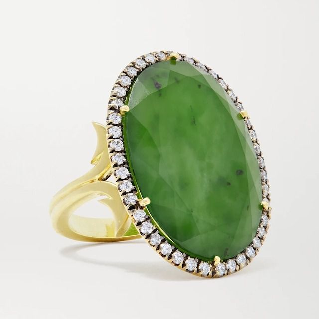 Sylva & Yepremian 18kt Gold, Jade and Diamond Ring