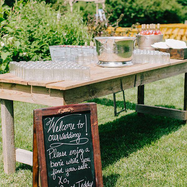 Wedding beverage bar.