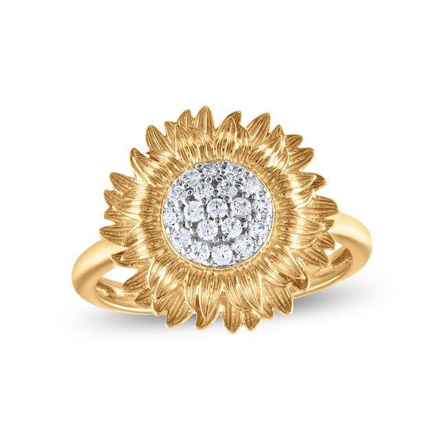 Zales Diamond Sunflower Engagement Ring