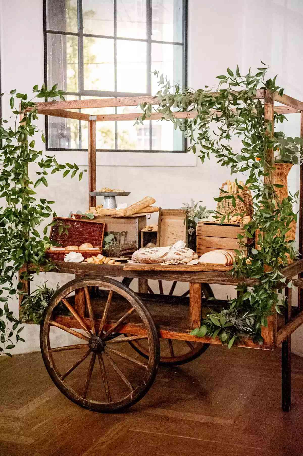 wedding bread cart