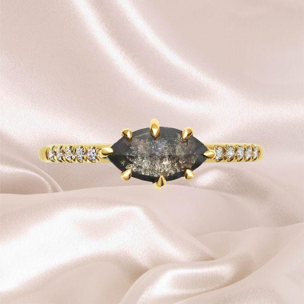 Salt-and-Pepper Diamond Engagement Rings