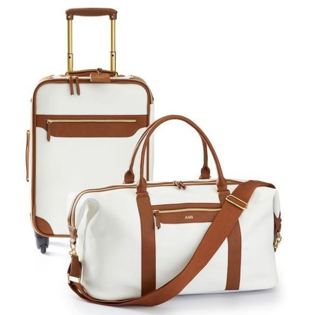 Mark & Graham Vegan Leather Carry-on Luggage and Weekender Set