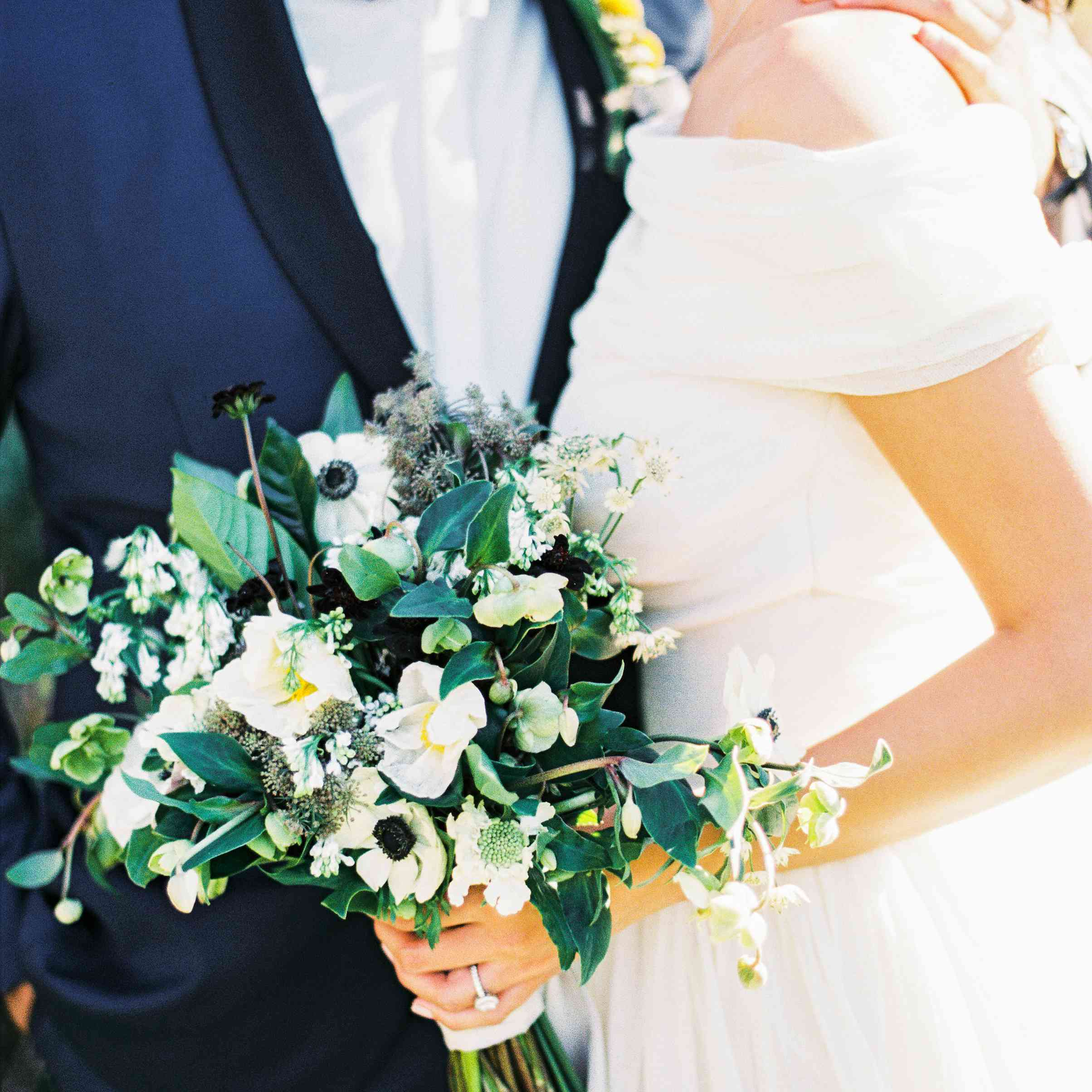Lush Bridal Bouquet With Anemones