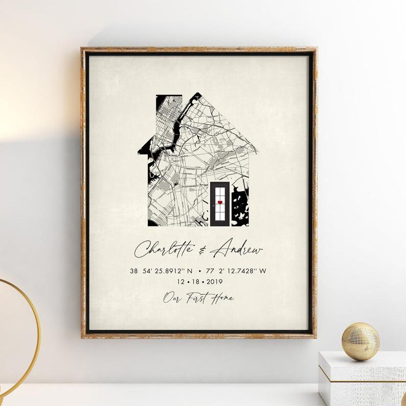 Words Work Prints Personalized Home Map