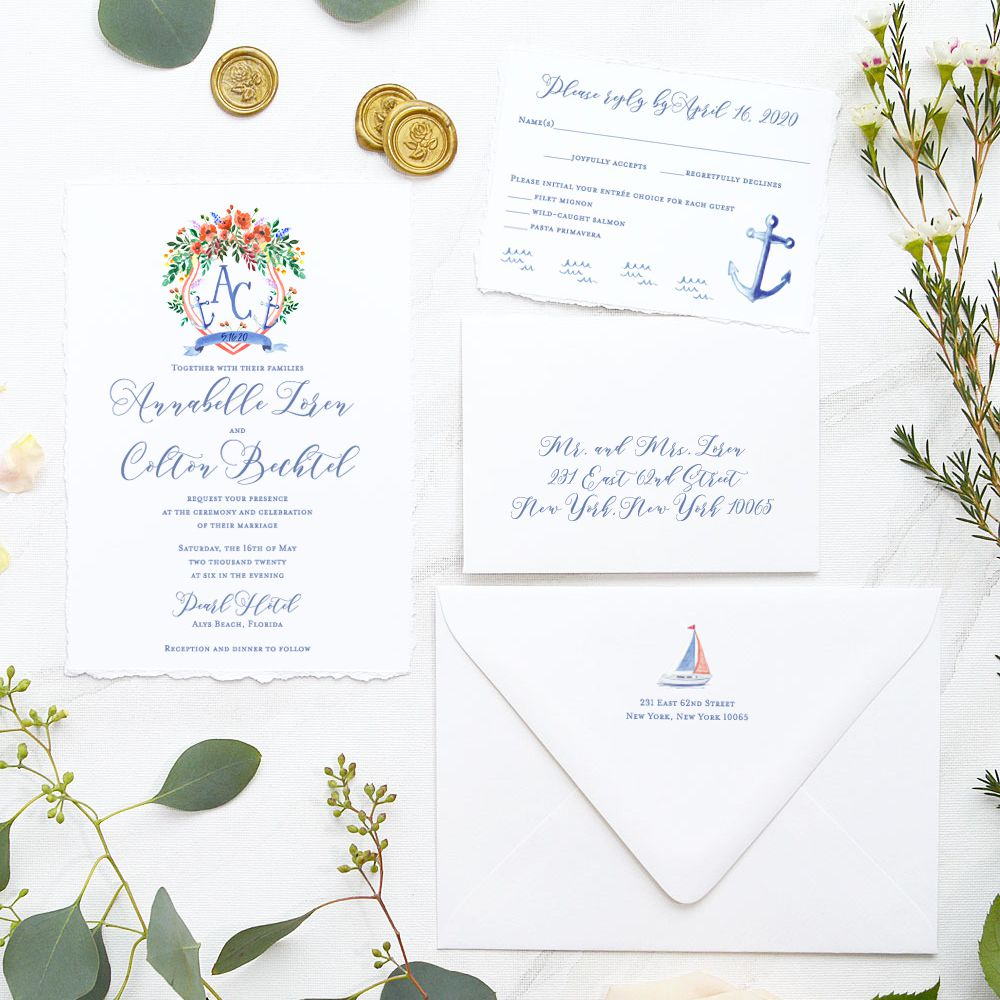 5 Nautical Wedding Invitations Perfect for Your Seaside Ceremony