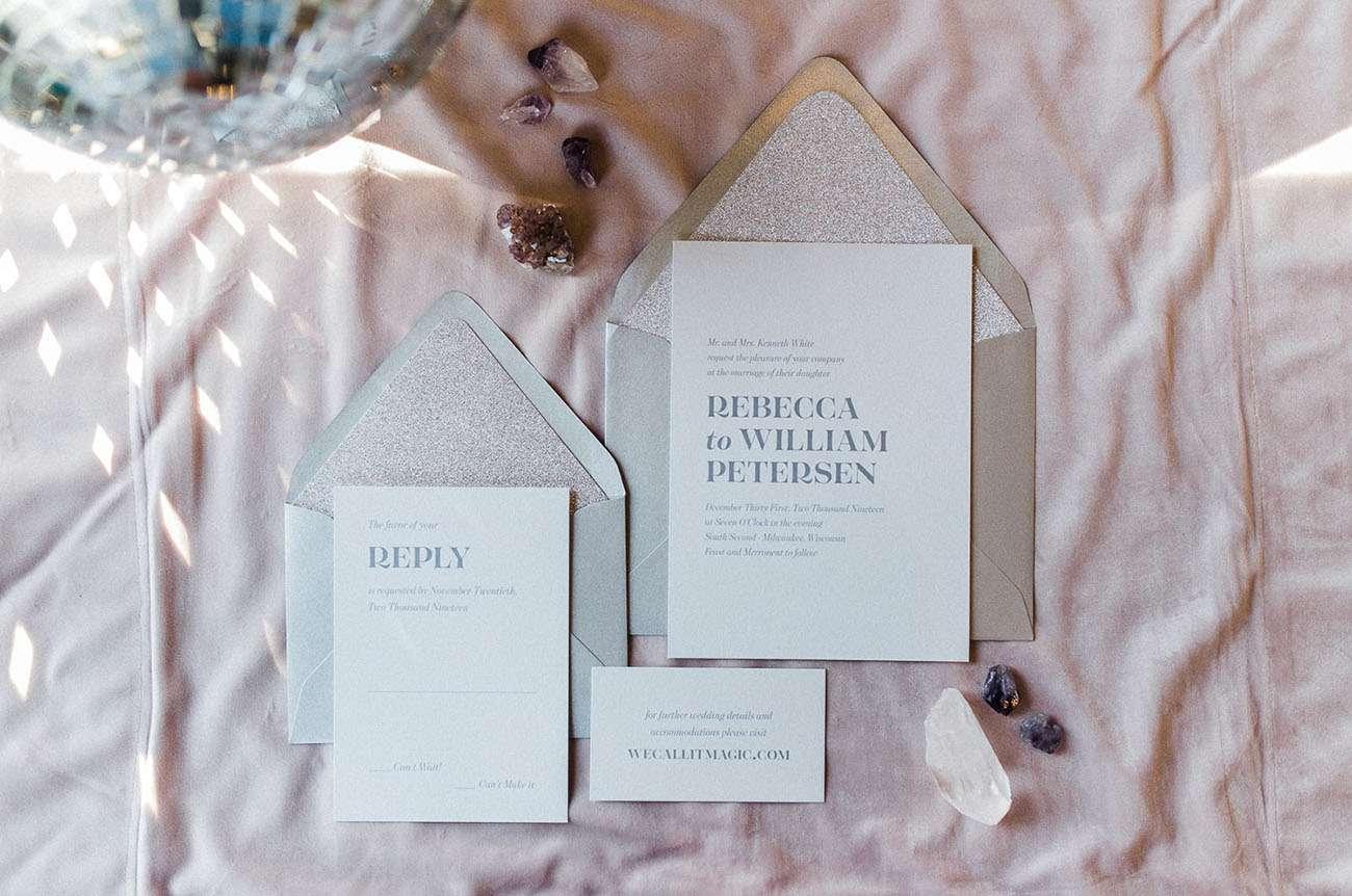 sparkly invitation