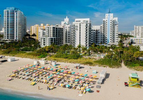 Aerial view of Miami Beach at The Confidante hotel