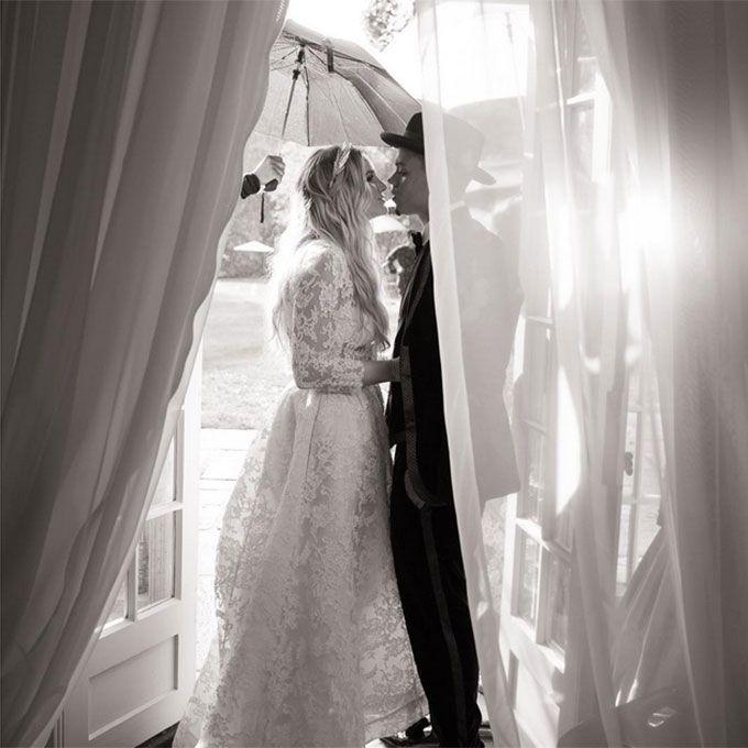 Ashlee Simpson marries Evan Ross in Houghton Bridal, 2014