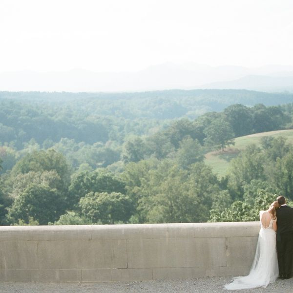 Bride and Groom at the Biltmore Estate