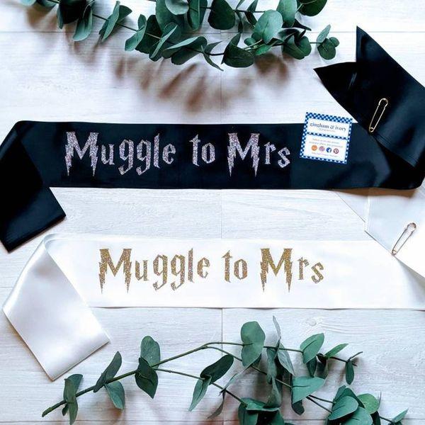 Muggle to Mrs bridal sash