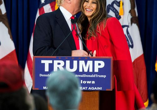 Trump Presidential Campaign With Melania