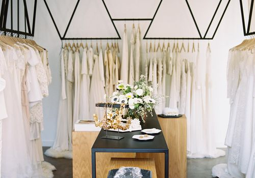 A view of Loho Bride, a bridal salon in LA and San Francisco, California.
