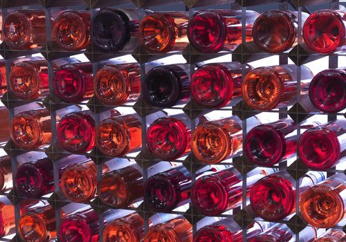 <p>Bottles of Rose and Red Wine</p>