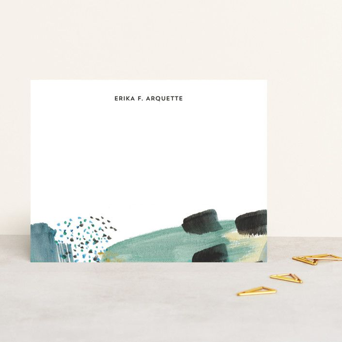 Erika Firm for Minted Abstract Savannah Georgia Personalized Stationery