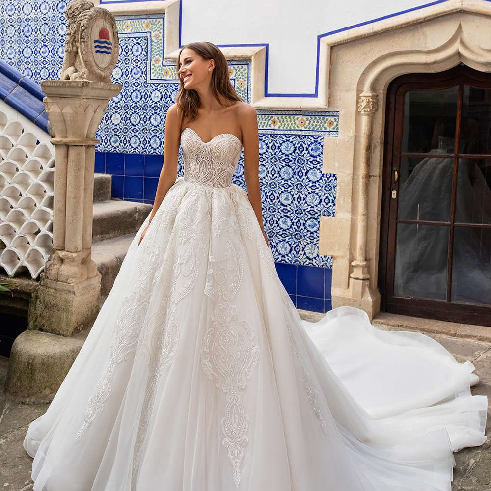 Pronovias X Kleinfeld Bridal Wedding Dress Collection Fall