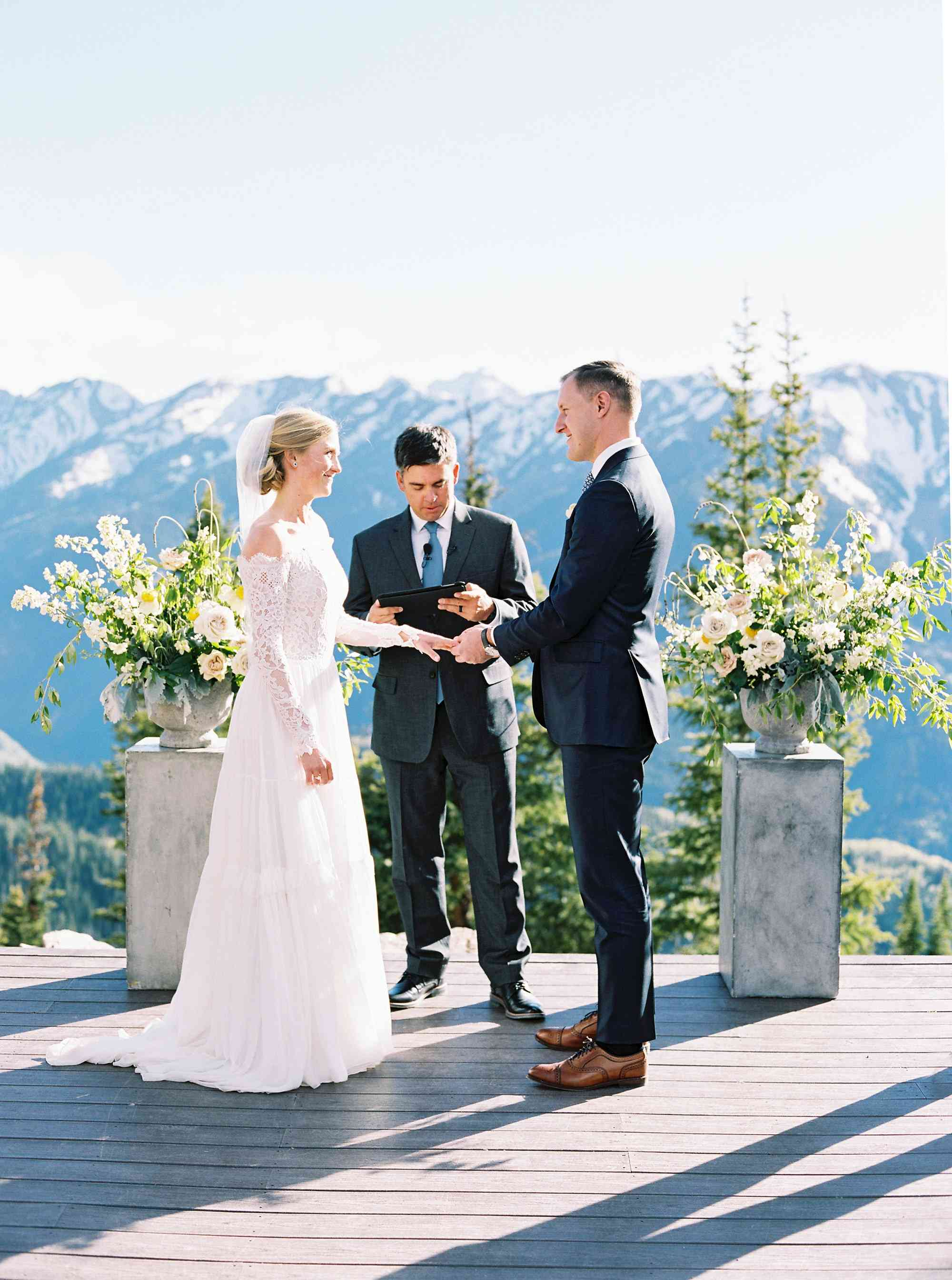 <p>ceremony exchanging vows</p><br><br>