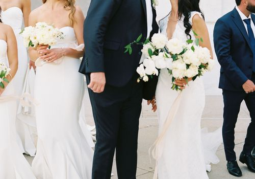 Sarah Onstwedder and Joshua Bourke were married at the Detroit Institute of Arts.