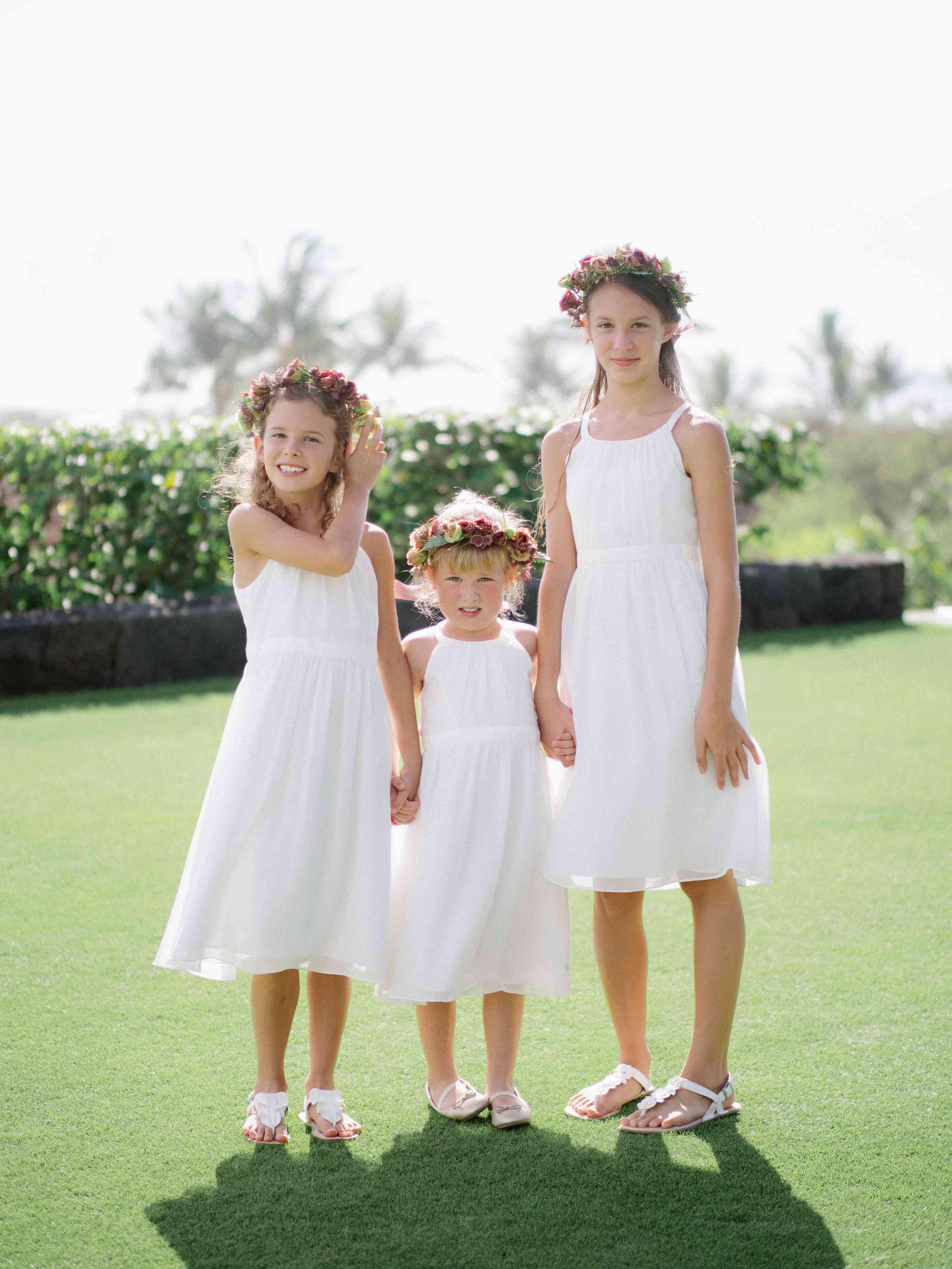 Flower girls portrait