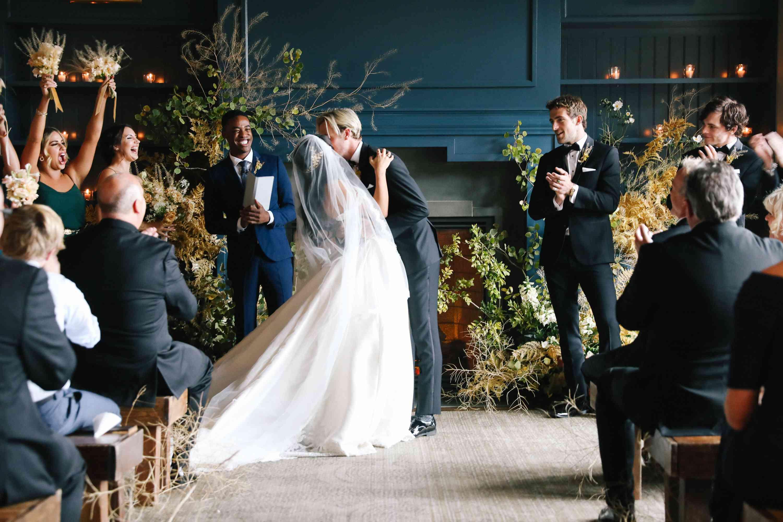 savannah and riker wedding, first kiss
