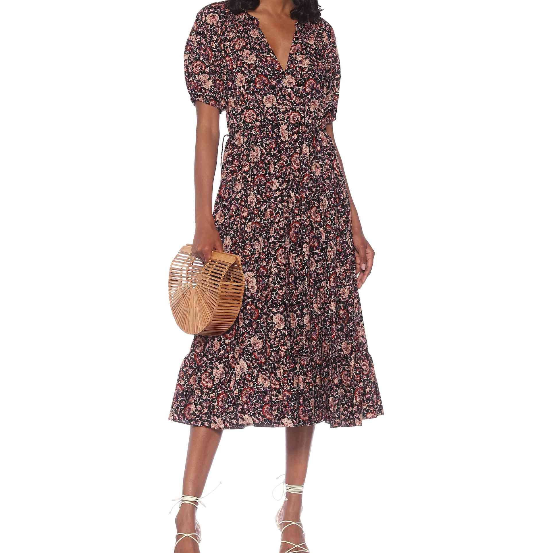 Ulla Johnson Claribel Cotton and Wool Midi Dress, $629
