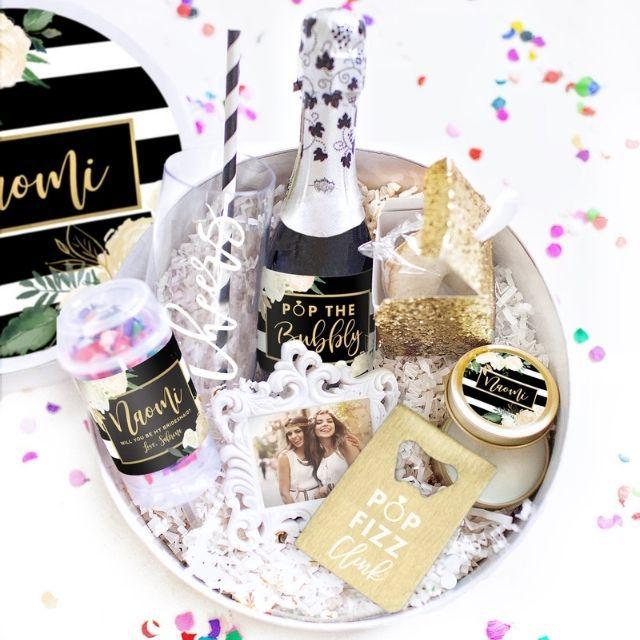 White Confetti Box Bridesmaid Gift Box Set