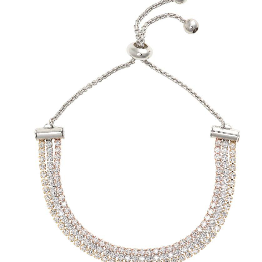 Triple Strand Slider Bracelet