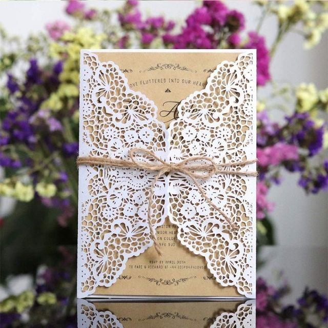 Keweis Laser Cut Wedding Invitations
