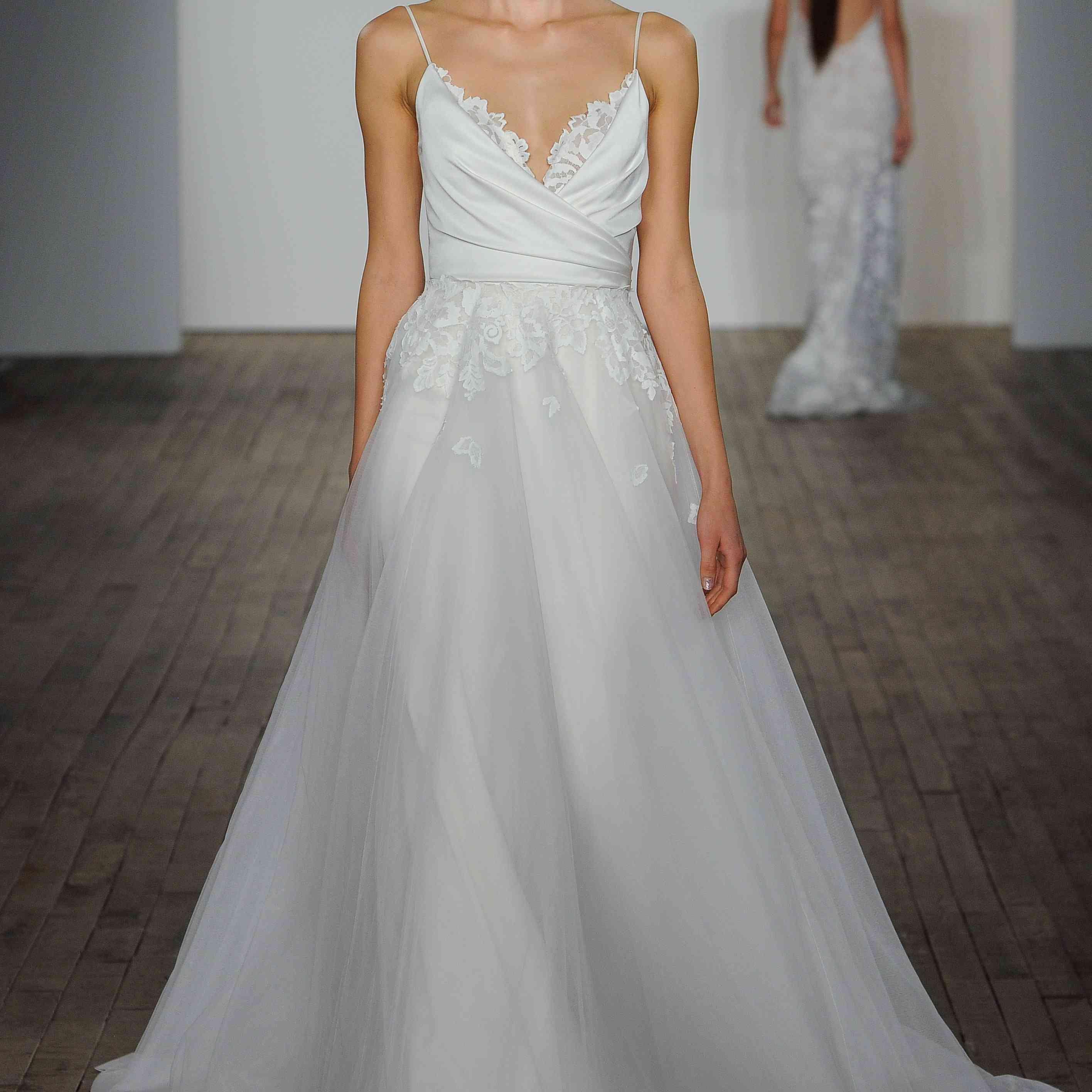 Fawn sleeveless A-line wedding dress