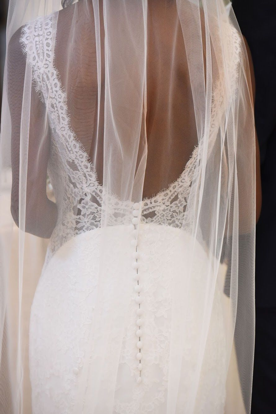 Bride's dress from behind