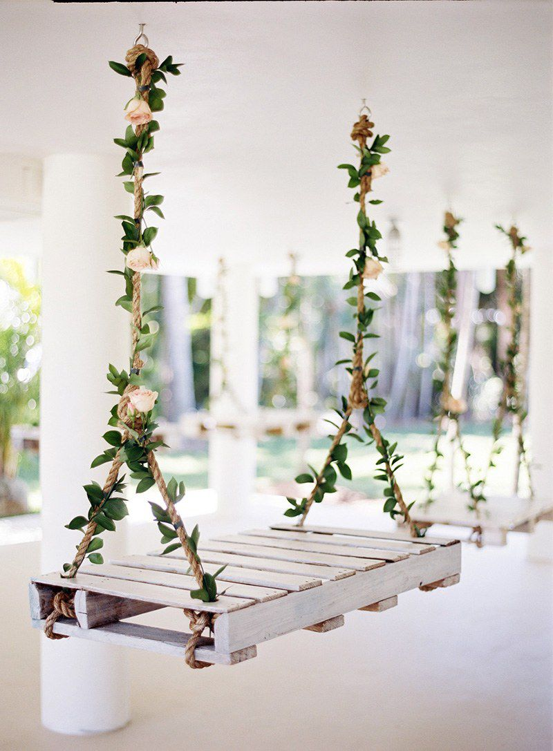 Swings with floral handles