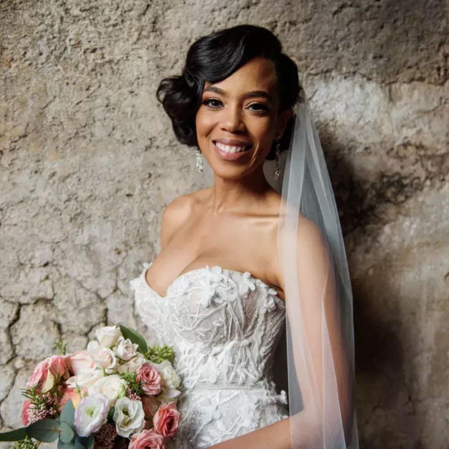 Jazmyn Simon bridal portrait