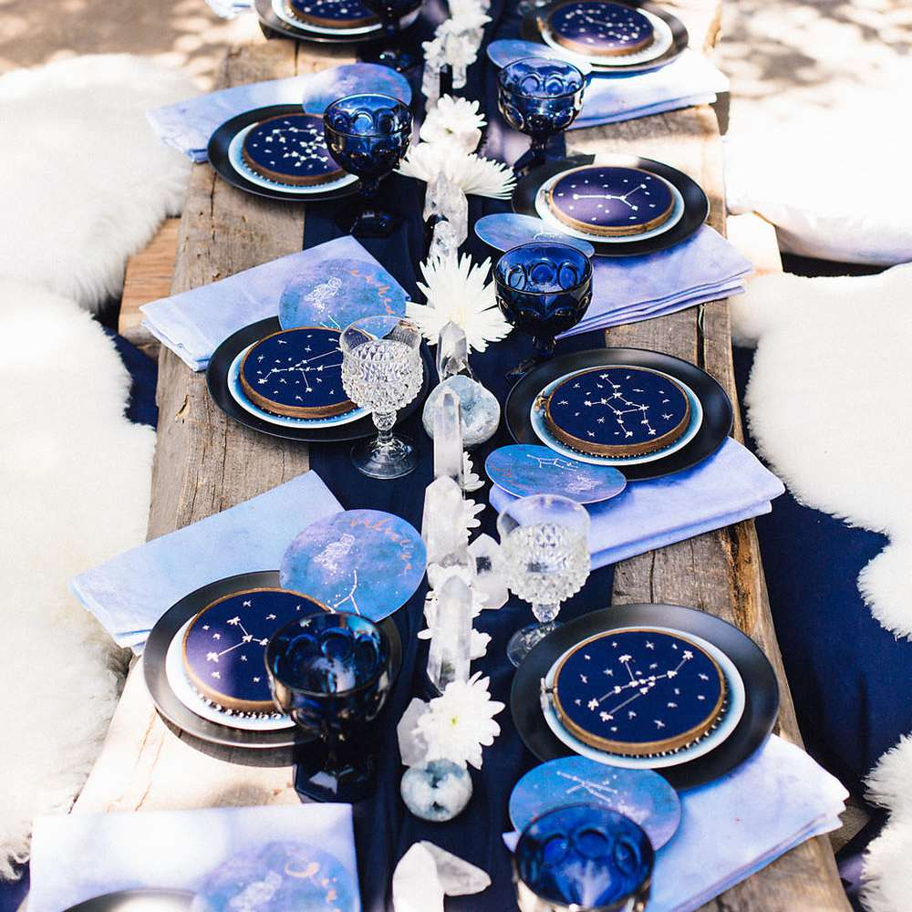 Constellation-inspired table setting