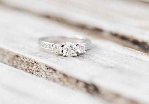 Round-Cut Three-Stone Engagement Ring