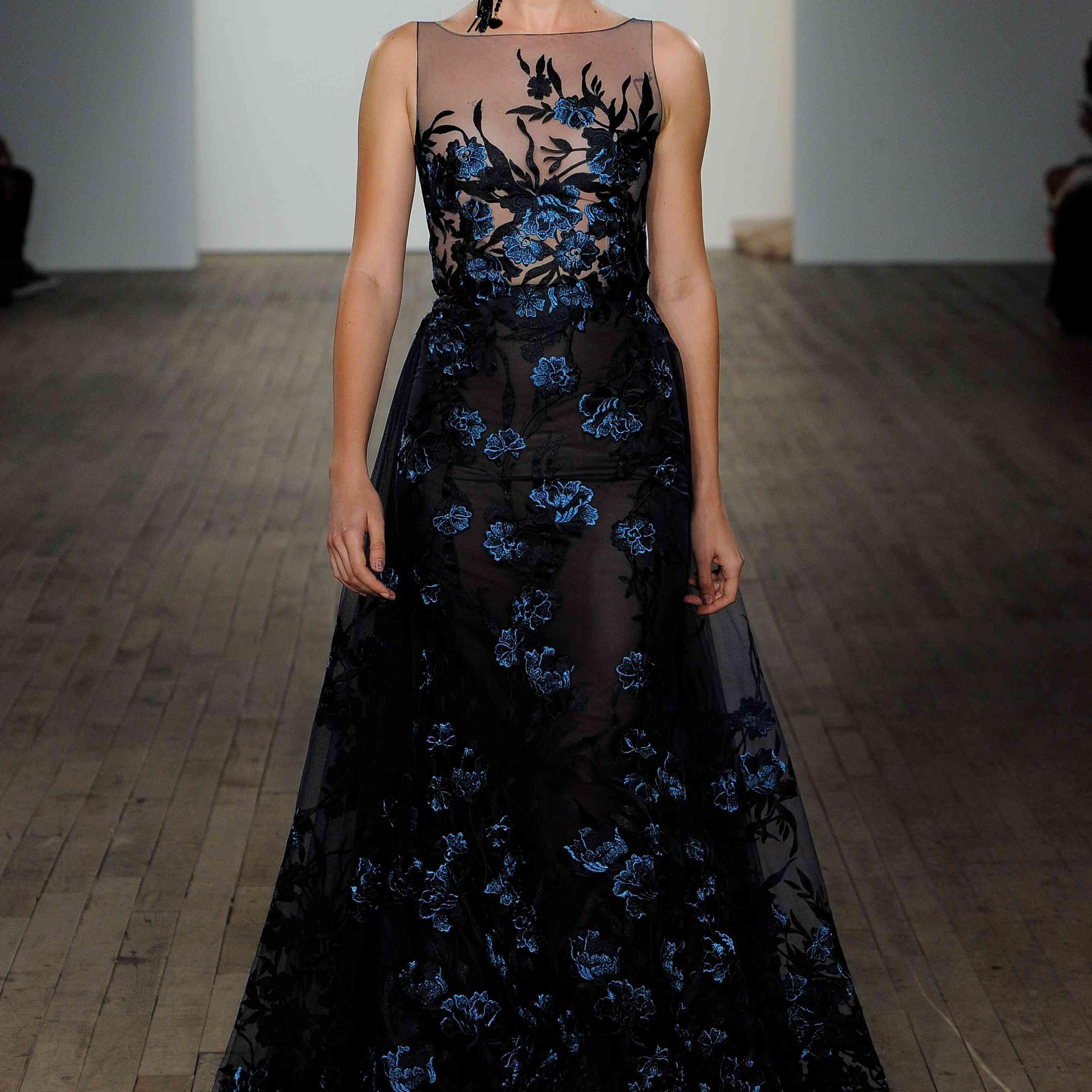 Cecilia black and blue wedding dress by lazaro