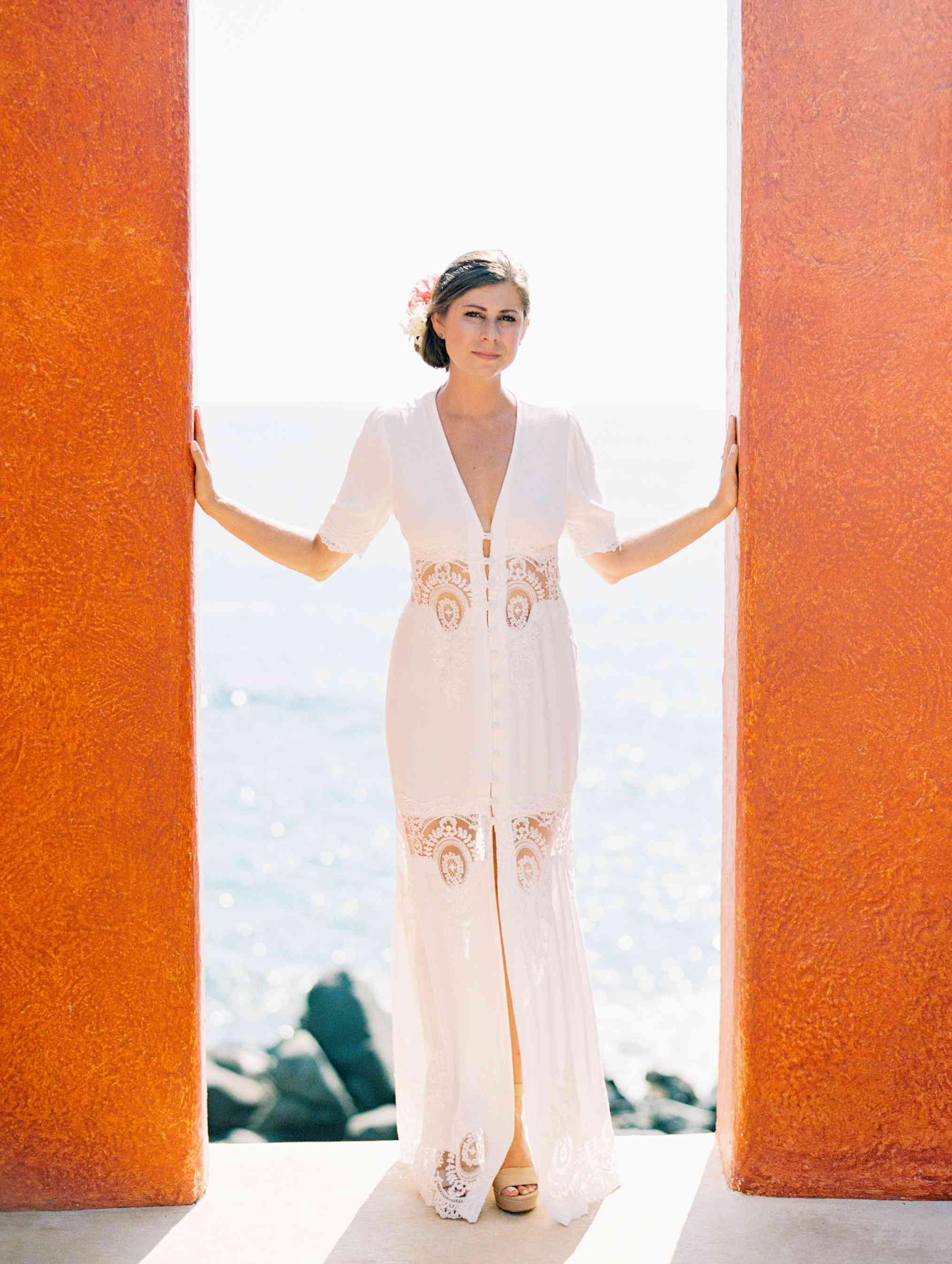 Bride Solo Beach Shot