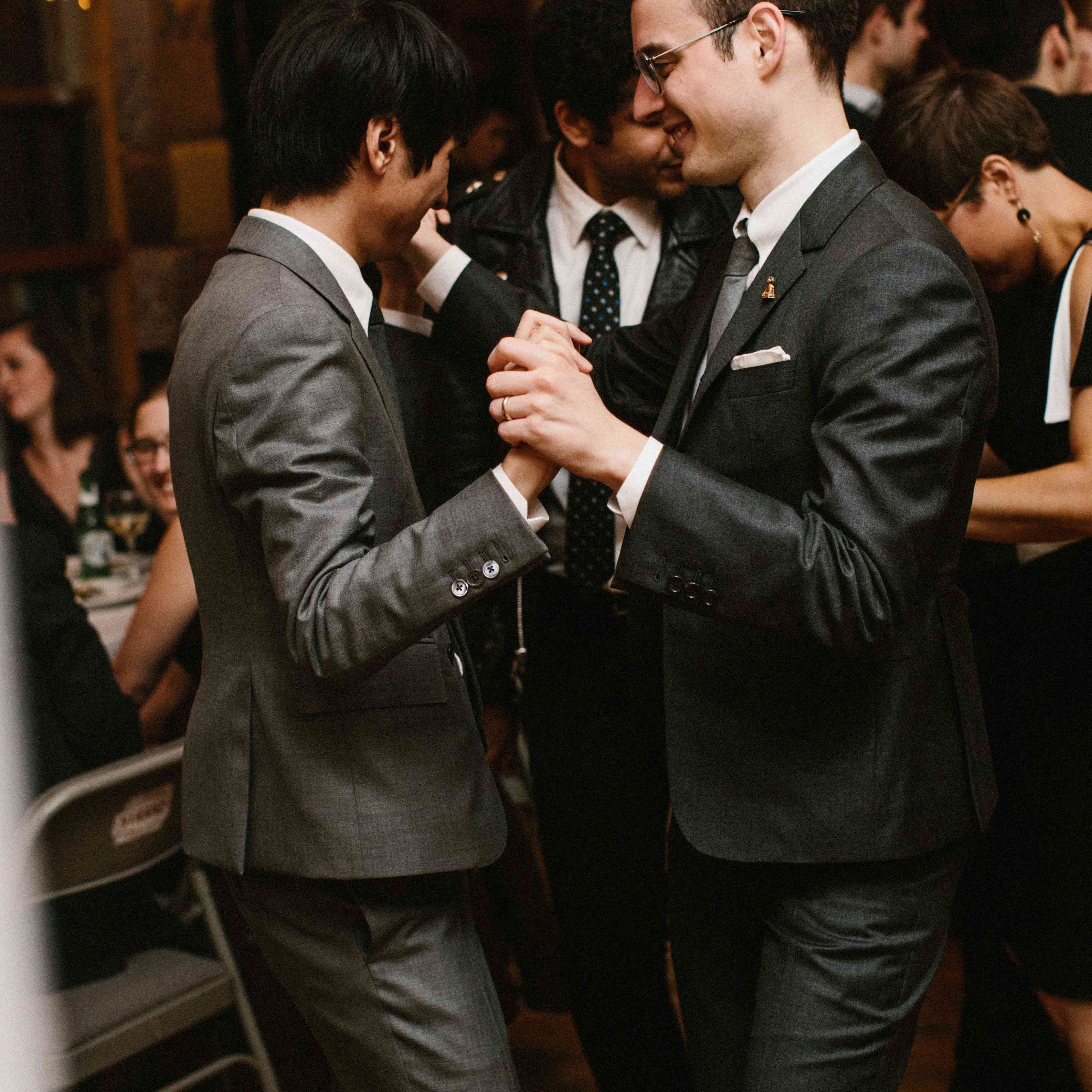 Grooms during first dance