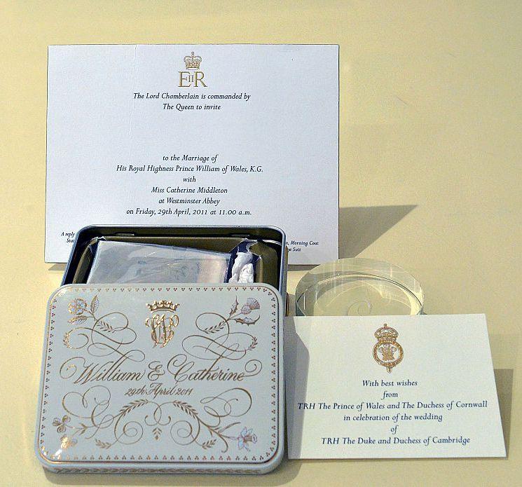 Slice of royal wedding cake