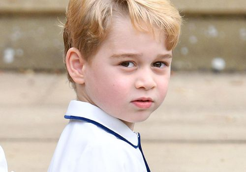 Prince George of Cambridge attends Princess Eugenie's wedding.