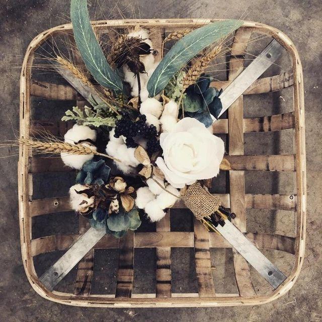 Sanderson Wreaths Mixed Cotton Bouquet