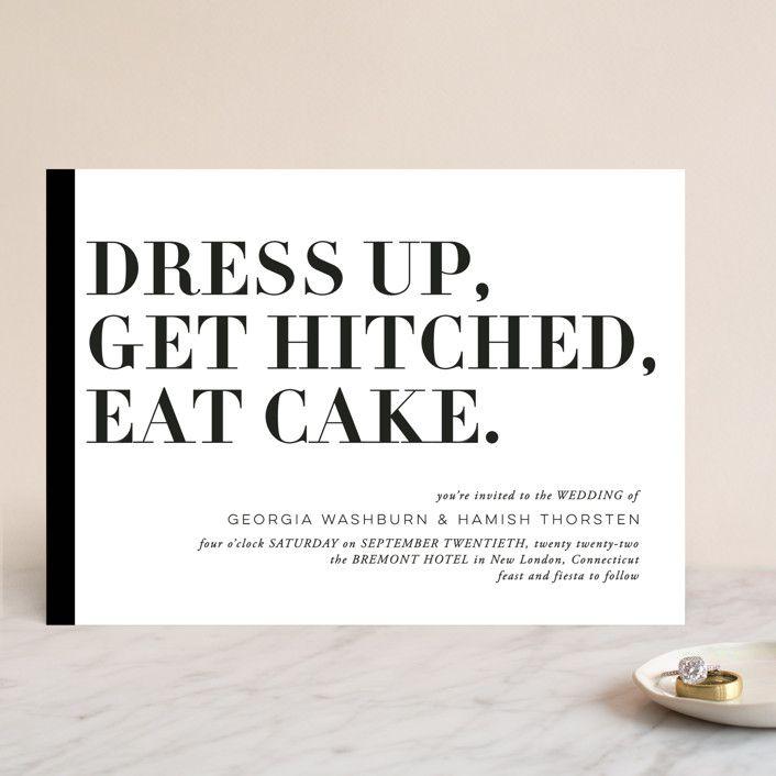 Minted Basically Wedding Invitation