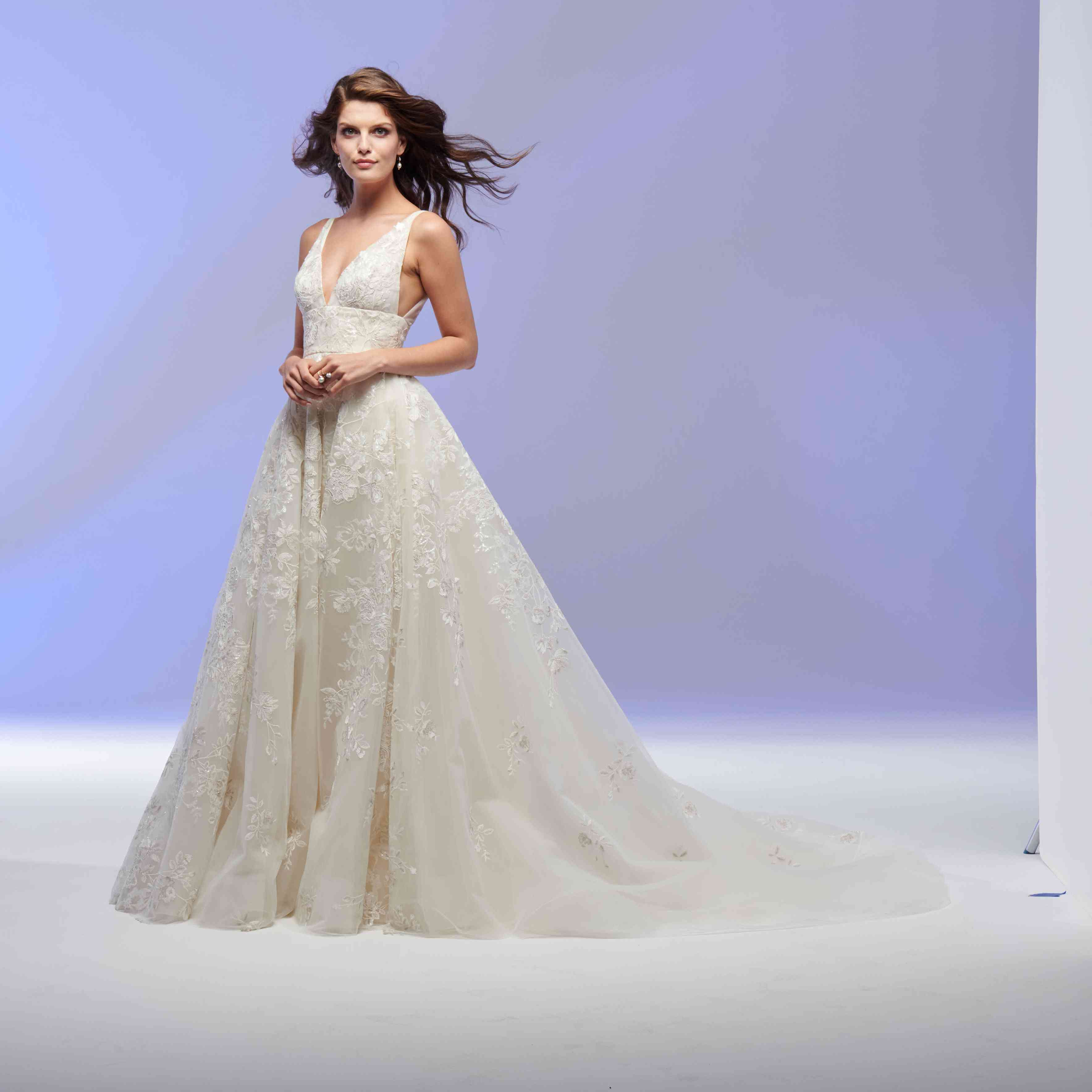 Adelaide sleeveless A-line wedding dress