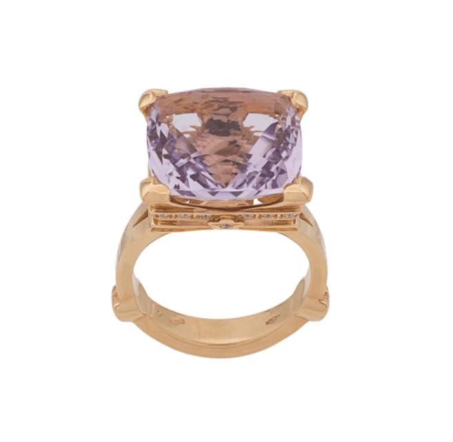 Pasquale Bruni Madame Eiffel Amethyst and Diamond Ring
