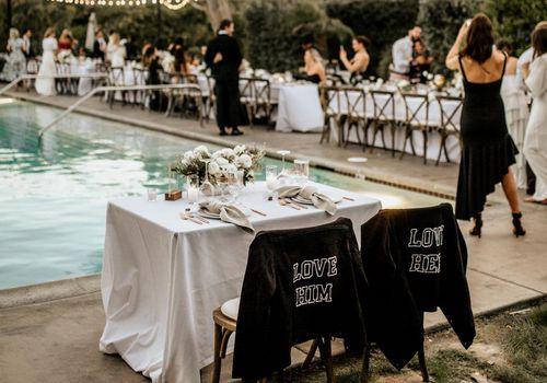 wedding reception sweetheart table