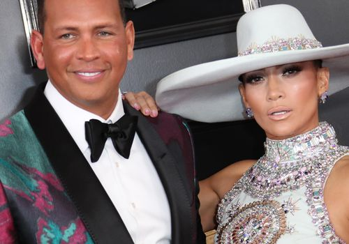 Alex Rodriguez and Jennifer Lopez attend the 61st Annual GRAMMY Awards at Staples Center.