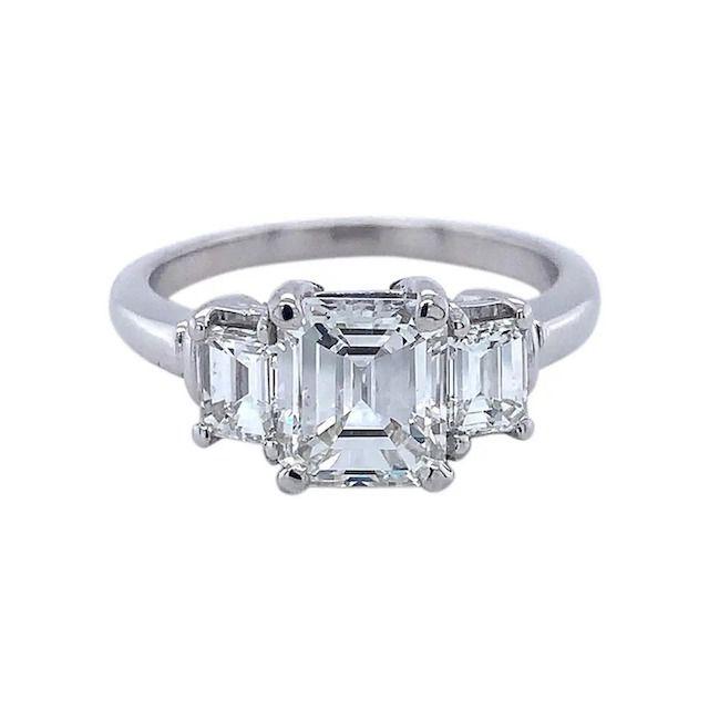 1stDibs Platinum GIA Emerald Cut 2 Carat Ring