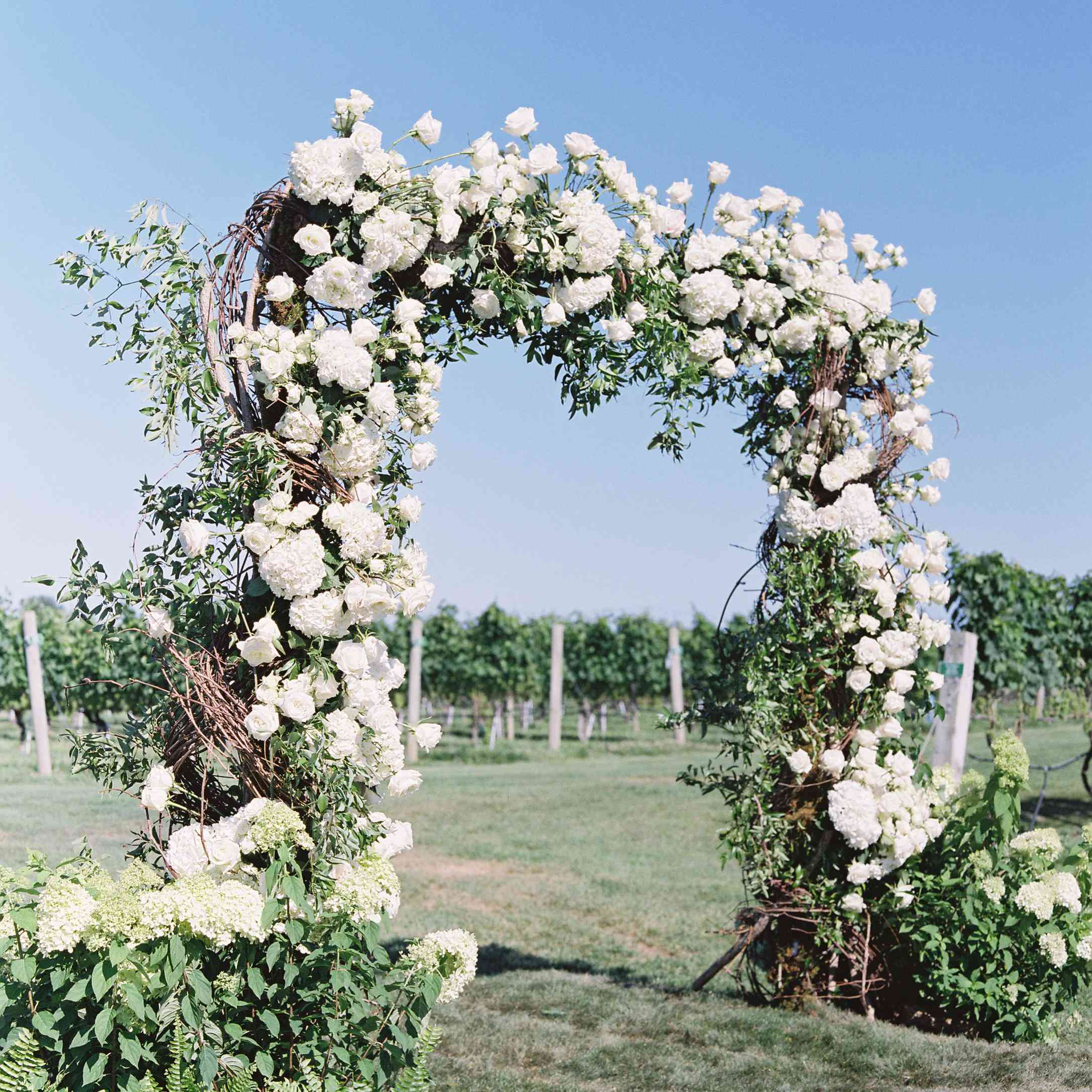 floral ceremony archway